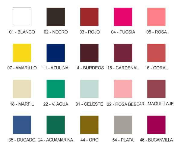 Carta de colores metacrilato