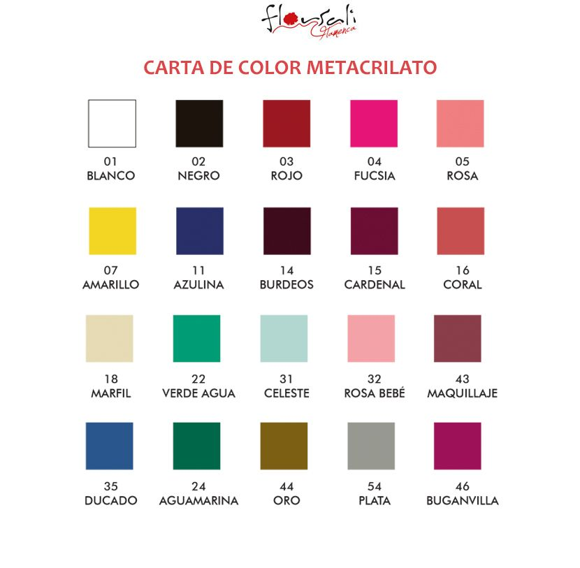 CARTA DE COLOR METACRILATO