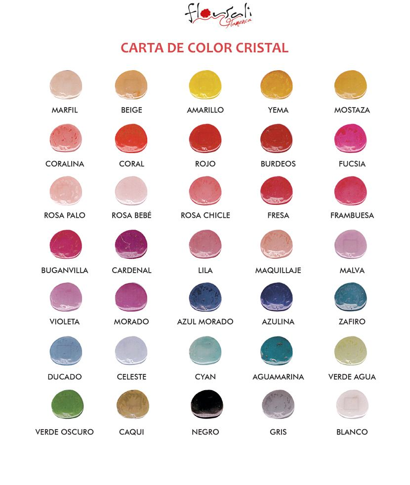 CARTA DE COLOR RESINA CRISTAL